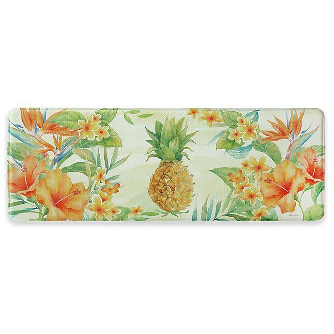 Pineapple Kitchen Rugs: Bacova Tropical Pineapple Memory Foam Kitchen Mat