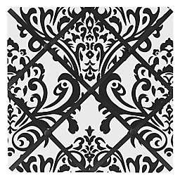 Sweet Jojo Designs Isabella Fabric Memo Board in Black/White