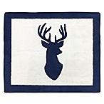 Sweet Jojo Designs Woodland Deer 30-Inch x 36-Inch Accent Floor Rug in Navy/White