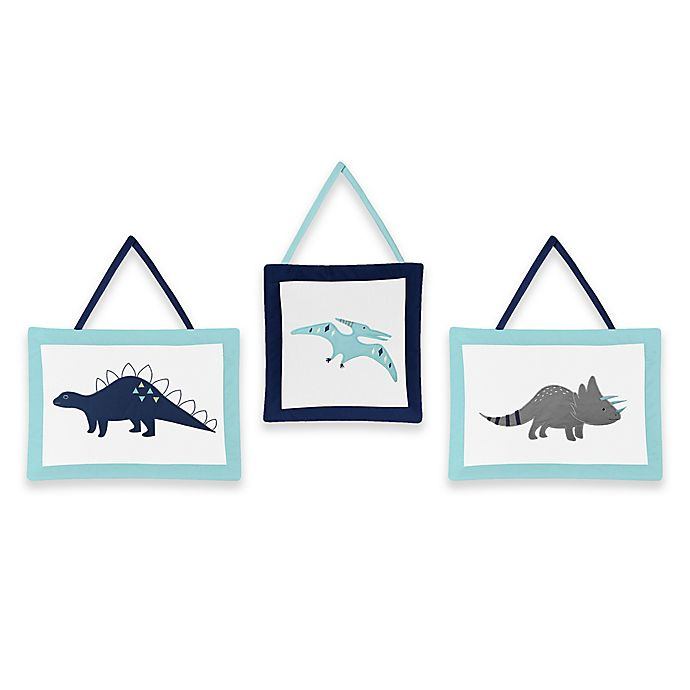 Alternate image 1 for Sweet Jojo Designs® Mod Dinosaur 3-Piece Wall Hanging Set