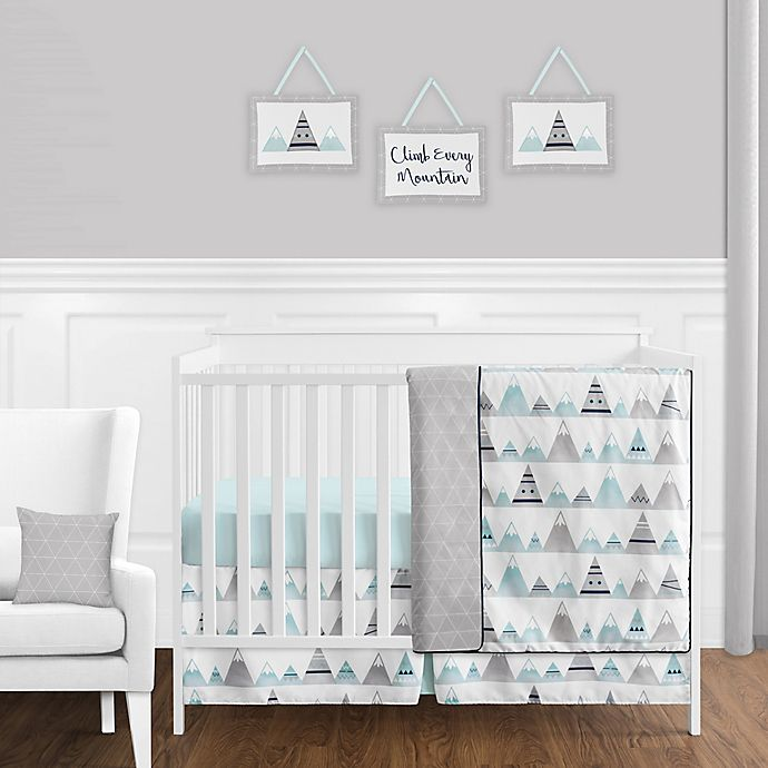 Alternate image 1 for Sweet Jojo Designs Mountains Crib Bedding Collection