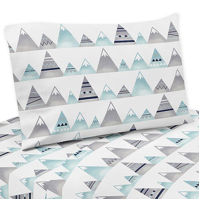Alternate image 1 for Sweet Jojo Designs Mountains Sheet Set in Grey/Aqua