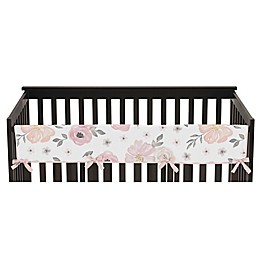 Sweet Jojo Designs® Watercolor Floral Reversible Long Rail Guard