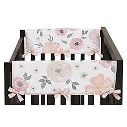 Sweet Jojo Designs® Watercolor Floral Reversible Short Rail Guards (Set of 2)