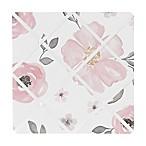 Sweet Jojo Designs Watercolor Floral Memo Board in Pink/Grey