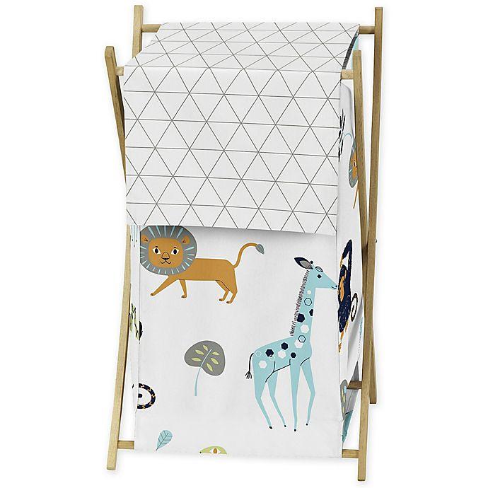 Alternate image 1 for Sweet Jojo Designs Mod Jungle Laundry Hamper