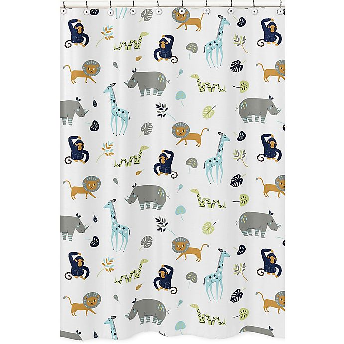 Mod Jungle Shower Curtain View A Larger Version Of This Product Image