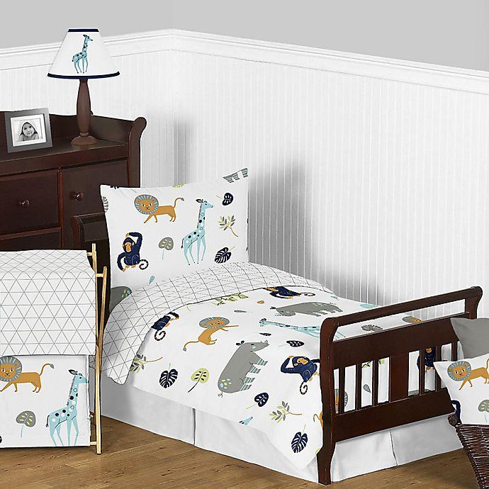 Alternate image 1 for Sweet Jojo Designs Mod Jungle Toddler Bedding Collection