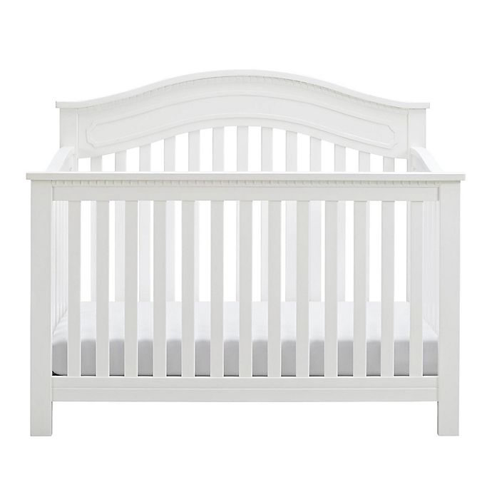 Alternate image 1 for Baby Relax Rivers 5-in-1 Convertible Crib in White