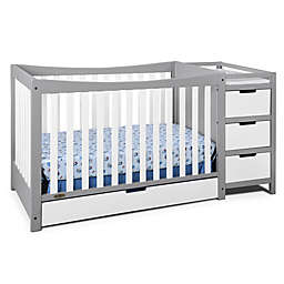 Graco® Remi 4-in-1 Convertible Crib and Changer in Grey/White