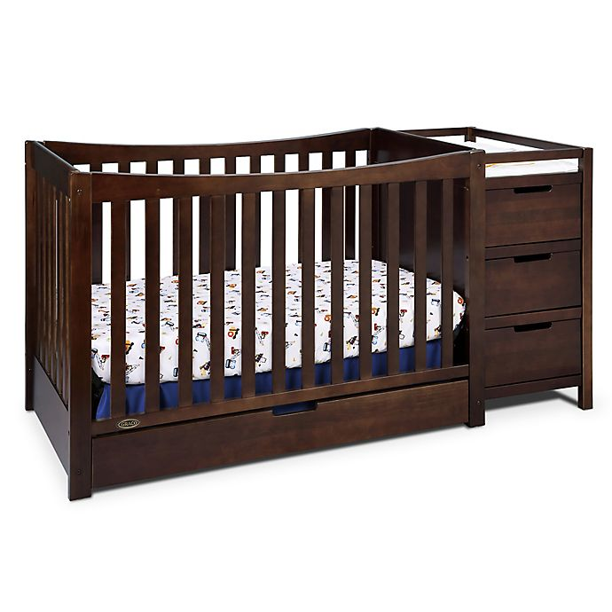 Alternate image 1 for Graco® Remi 4-in-1 Convertible Crib and Changer in Espresso