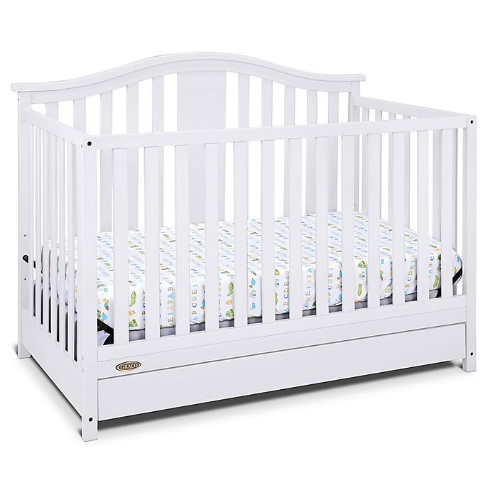 Alternate image 1 for Graco® Solano 4-in-1 Convertible Crib with Drawer in White