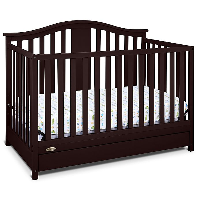 Alternate image 1 for Graco® Solano 4-in-1 Convertible Crib with Drawer in Espresso