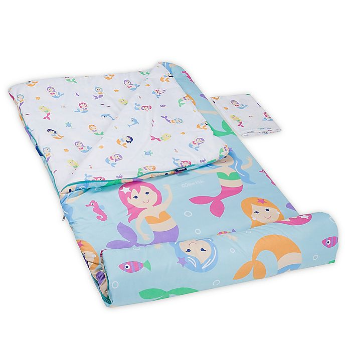 Alternate image 1 for Olive Kids Mermaids 3-Piece Sleeping Bag Set in Aqua