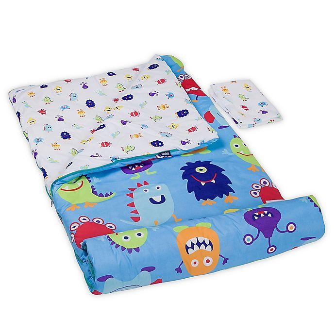 Alternate image 1 for Olive Kids Monsters 3-Piece Sleeping Bag Set in Blue