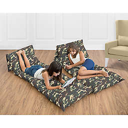 Sweet Jojo Designs Camo Pillow Lounger Cover in Green