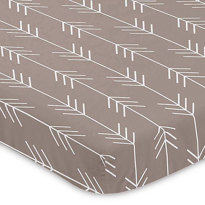 Alternate image 1 for Sweet Jojo Designs® Outdoor Adventure Arrow Print Mini-Crib Sheet