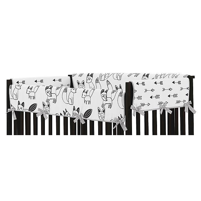 Alternate image 1 for Sweet Jojo Designs® Fox Long Crib Rail Cover in Grey/Black