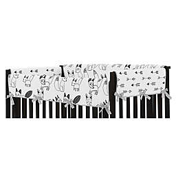 Sweet Jojo Designs® Fox Long Crib Rail Cover in Grey/Black