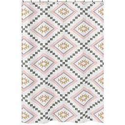 Sweet Jojo Designs Aztec Shower Curtain in Pink/Grey
