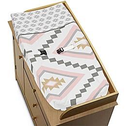 Sweet Jojo Designs Aztec Changing Pad Cover in Pink/Grey