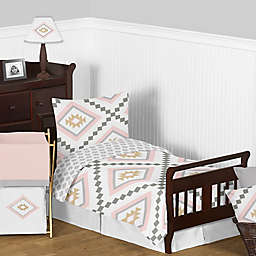 Sweet Jojo Designs Aztec Bedding Collection in Pink/Gold