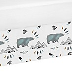 Sweet Jojo Designs Bear Mountain Crib Skirt in Blue/Black