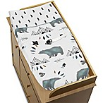 Sweet Jojo Designs Bear Mountain Changing Pad Cover in Blue/Black