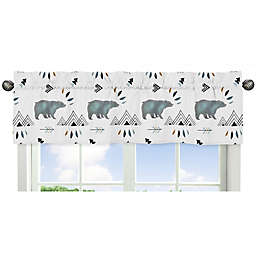 Sweet Jojo Designs Bear Mountain Window Valance in Blue/Black