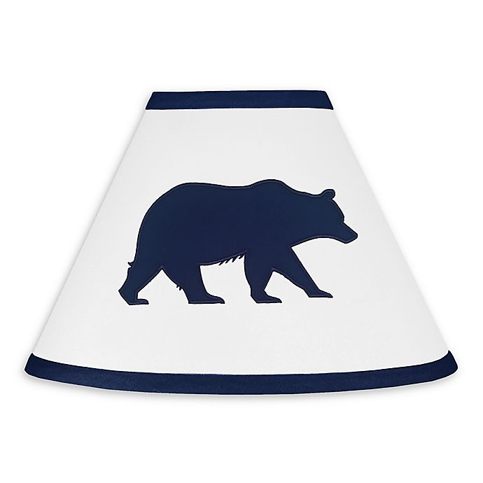 Alternate image 1 for Sweet Jojo Designs Big Bear Lamp Shade in Navy/White