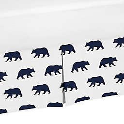 Sweet Jojo Designs Big Bear Bed Skirt in Navy