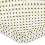 Sweet Jojo Designs Amelia Polka Dot Fitted Mini-Crib Sheet