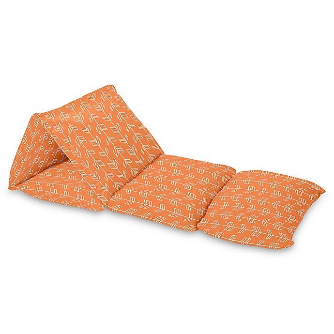 Alternate image 1 for Sweet Jojo Designs Arrow Floor Pillow Lounger Cover in Orange