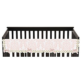 Sweet Jojo Designs Amelia Long Crib Rail Covers in Pink/Gold