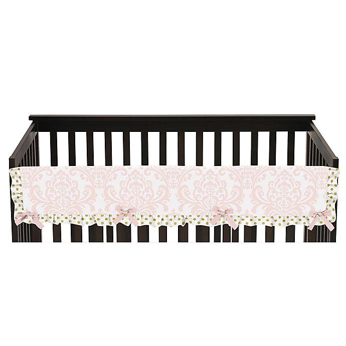 Alternate image 1 for Sweet Jojo Designs Amelia Long Crib Rail Covers in Pink/Gold