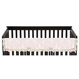 Sweet Jojo Designs Amelia Long Crib Rail Covers in Pink/Gold