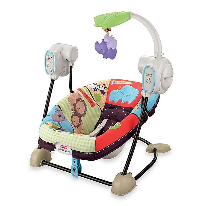 Luv U Zoo Spacesaver Swing And Seat By Fisher Price