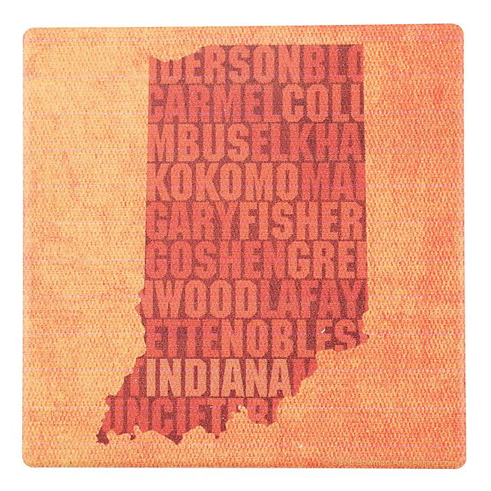 Alternate image 1 for Thirstystone® Indiana State Words Round Single Coaster
