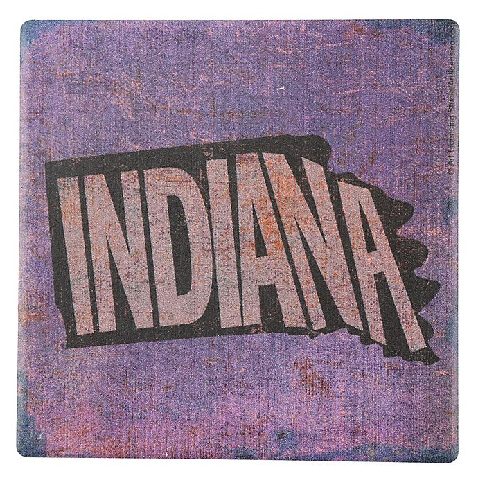 Alternate image 1 for Thirstystone® Indiana Round Single Coaster