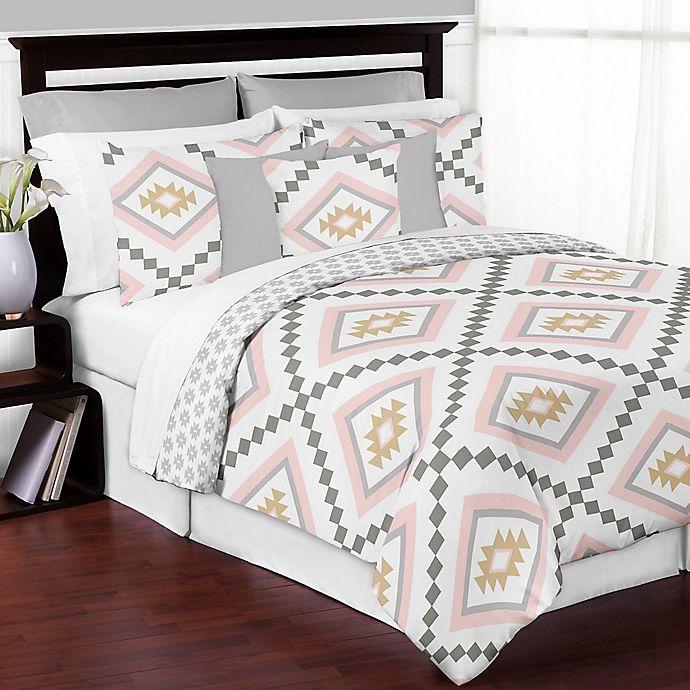 Alternate image 1 for Sweet Jojo Designs Aztec 3-Piece Full/Queen Comforter Set in Pink/Gold