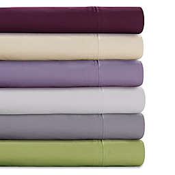 Tribeca Living Solid Color 350-Thread-Count Percale Deep-Pocket Sheet Set