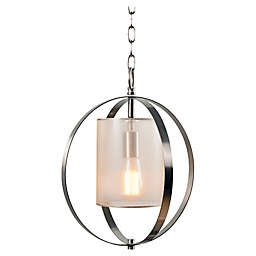 Kenroy Home Veil 1-Light Ceiling-Mount Pendant in Brushed Steel