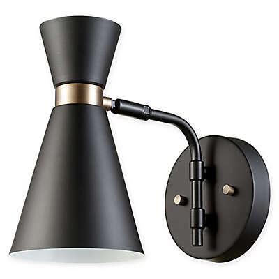 Globe Electric Belmont Wall Sconce in Black/Gold