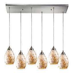 ELK Lighting Capri 6-Light Pendant in Satin Nickel