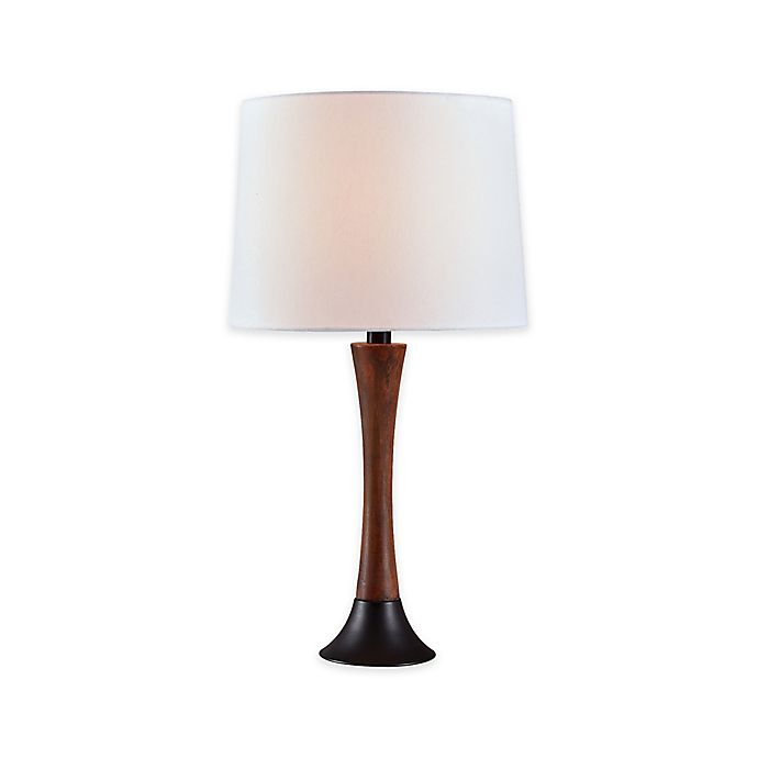 Kenroy Home Cecelia 1 Light 12 Inch Table Lamp In Mahogany Bed