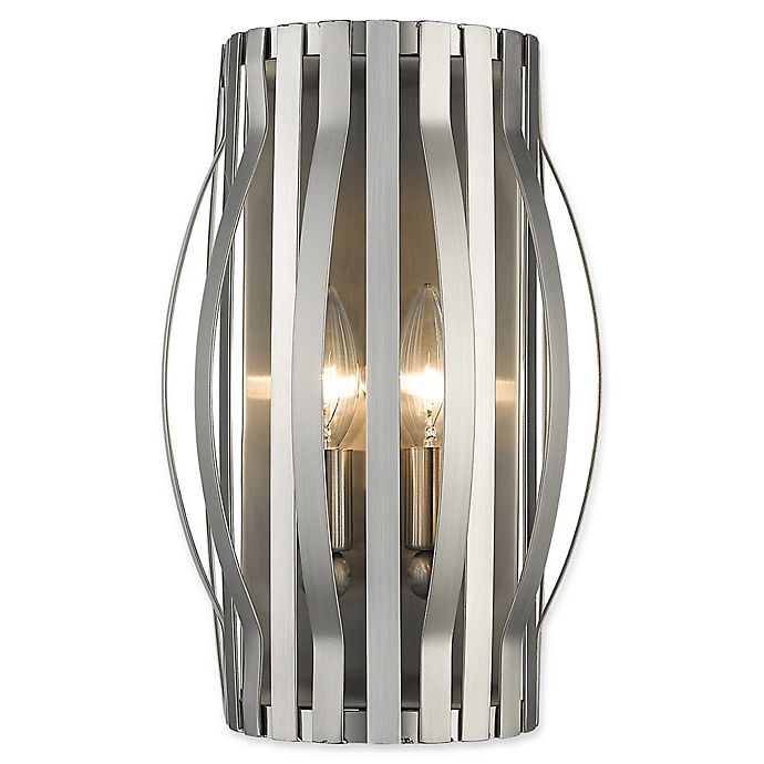 Alternate image 1 for Filament Design Clay 2-Light Wall Sconce in Brushed Nickel