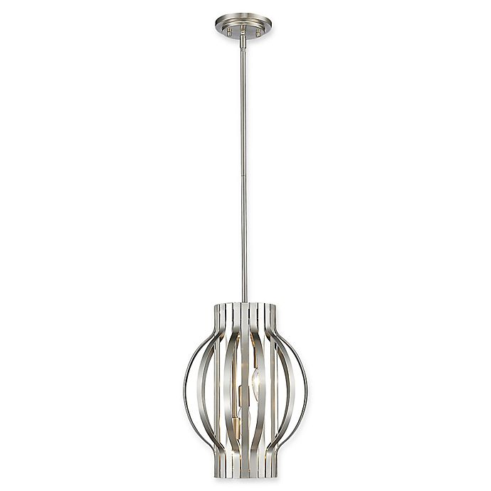 Alternate image 1 for Filament Design Clay 3-Light Cylindrical Pendant in Brushed Nickel