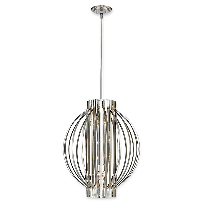 Alternate image 1 for Filament Design Clay 8-Light Cylindrical Pendant in Brushed Nickel