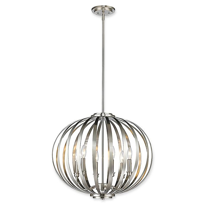 Alternate image 1 for Filament Design Clay 6-Light Large Round Pendant in Brushed Nickel