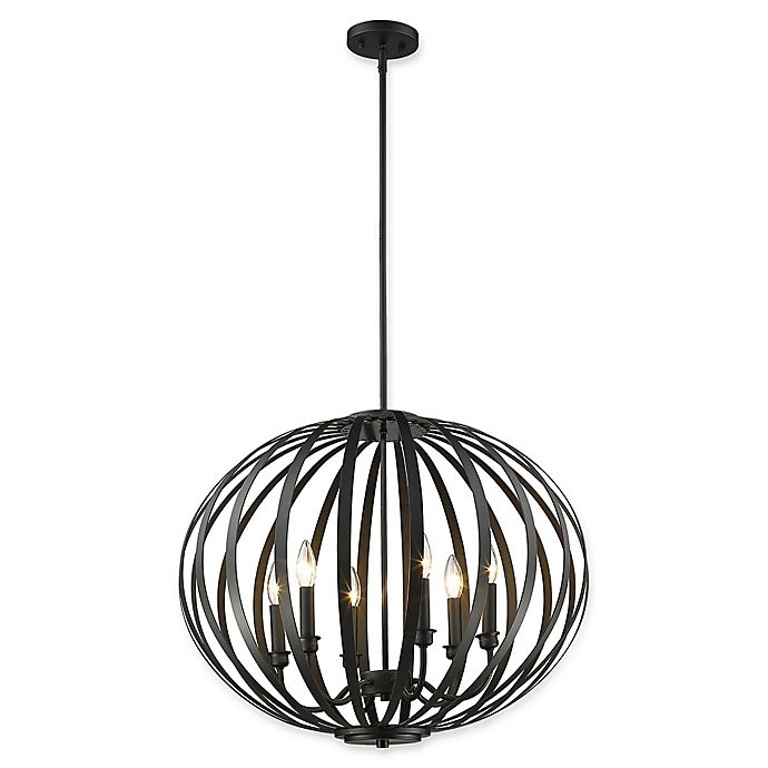 Alternate image 1 for Filament Design Clay 6-Light Large Round Pendant in Bronze